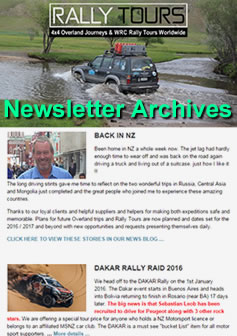 Rally Tours Newsletter Archives