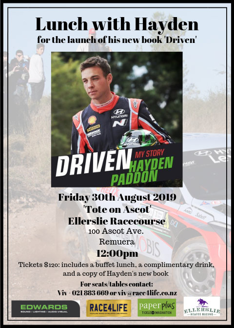 Hayden Paddon book launch